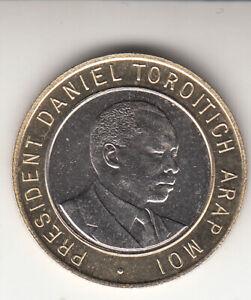 KENYA 1995. Bi-metal 10 Shillings. President Daniel Toroitich Arap Moi