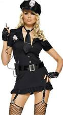HALLOWEEN Woman Police Cop Costume Fancy Dress Outfit Cosplay Partywear + hat
