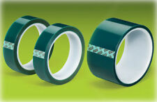 "Green Polyester Tape Powder Coating High Temp 1/2""x72yd 13mm"