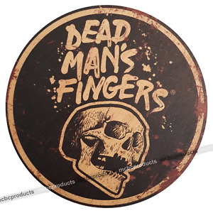 DEAD MANS FINGERS Rum Wood Signs Retro Round Wooden Circle Mancave Bar Wall Sign