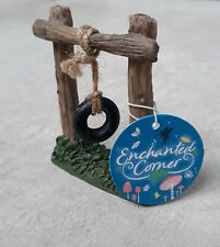 Rustic Tyre Swing for Fairy Elf Gnome Garden Enchanted Corner Brand New With Tag