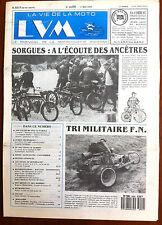 LVM - La Vie de la Moto n°9 du 1/5/1989; Tri Militaire F.N./ Sorgues Ancêtres