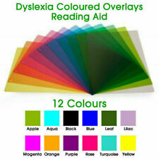 More details for a4 dyslexia & irlen syndrome ruler reading aid overlay (12 colour)