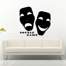 Wall Decal Mask Movie Game Double Game Inscription Words Theater M673