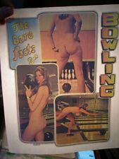 The Bare Facts Of Bowling 1970's Vintage Americana Iron On Transfer B-5