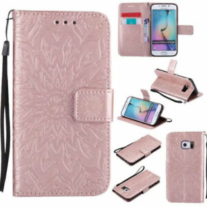 (Rose Gold) Emboss Mandala Wallet Leather Flip Case Cover For Various Phones