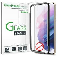 """amFilm (2 PK) Tempered Glass Screen Protector for Samsung Galaxy S21 Plus (6.7"""")"""