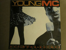 "YOUNG MC BUST A MOVE 12"" OG '89 DELICIOUS VINYL HIP HOP DUST BROTHERS VG+ SHRINK"