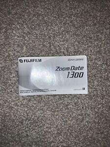 Original Fujifilm ZoomDate 1300 Camera Full English Instruction Manual VGC