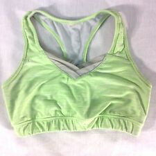 Lucy Sport Bra S Racerback Yoga Workout  Lime Green Exercise Athletic V-Neck