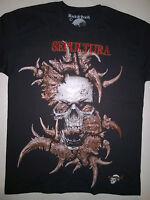 SEPULTURA T-Shirt RARE Embroidered Logo Soulfly Slayer Kreator Testament Pantera