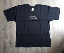 Men's XL DEAD DOMINO Last One To Fall Black Tshirt White Graphic Print NEW
