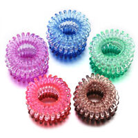 Elastic Spiral Coil Hair Ties Ponytail Holders Plastic Phone Cord Accessories