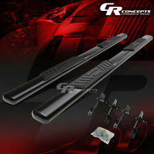 "BLACK 5"" OVAL SIDE STEP NERF BAR RUNNING BOARD KIT FOR 01-03 FORD F150 CREW CAB"
