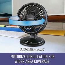 Holmes 8-Inch Fan | Lil' Blizzard Oscillating Table Fan, Black
