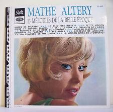 """33T Mathe ALTERY Disque LP 12"""" 13 MELODIES DE LA BELLE EPOQUE - PATHE F Rèduit"""