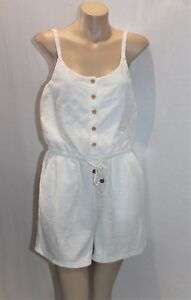 VALLEYGIRL Brand Cream Lace Button Front Romper Playsuit Size 8 BNWT  #TH114