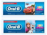 Oral B Frozen Kids Toothpaste 75 ml Frozen or Mcqueen Cars