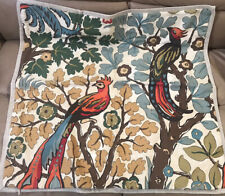 Pottery Barn Mayle Exotic Birds Organic Cotton EURO Sham New without tag