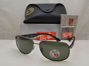 Ray Ban RB3502 (RB3502-004/58 61) Gunmetal with Green Polarized Lens