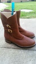 Russell and Bromley buckle Boots Size 5 colour dark tan,brand new,rrp £225.00.
