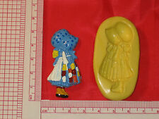 Silicone Mold Girl with Bonnet Fondant Cupcake Clay Candy A778 Chocolate Fimo