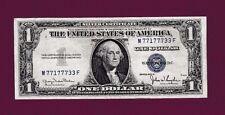Fr.1613   $1  1935 D  SILVER CERTIFICATE NOTE FANCYY SN M 77177733 F US CURRENCY