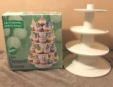 Wilton 4-Tier Dessert Tower Stacked stand for Cupcakes display nests for storage