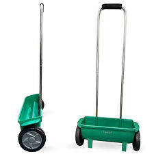 More details for garden lawn 12l soil seed salt grit fertiliser spreading grass feed spreader diy