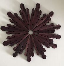 Set Of 4 Handmade Wooden Coasters, Candleholder Centre Pieces, Or Wall Art