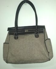Carters Tweed Fishbone Brown and Beige Large Baby Diaper Bag