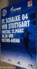 Plakat + Poster + Schalke + VFB Stuttgart + 12.03.2010