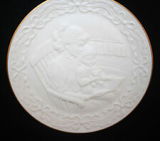 1993 Lenox Children'S Hour, Bedtime Story Plate, White Bisque, Mwt