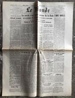 N64 La Une Du Journal Le Monde 3 Avril 1945