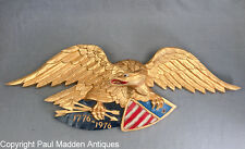 Vintage Bicentennial Carved Eagle by Artistic Carving Co.