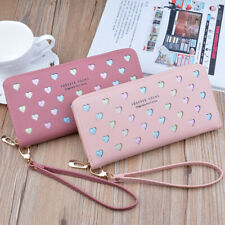 Girls Cute Long Wallet Leather Purse Money Clip Card Holder Wallet Phone Bag