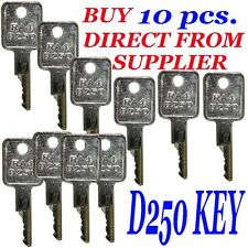 10 D250 Case-IH, Bobcat, Ingersol-Rand Equipment Ignition Start Starter Keys