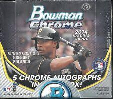 2014 Bowman Chrome Factory Sealed BB Jumbo Box  5 AUTOS/Box  K Bryant AUTO ??