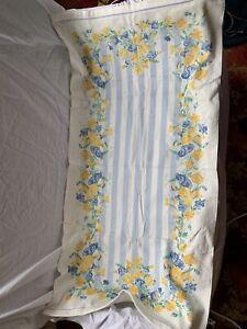 Laura Ashley Sweet Pea design in blue/yellow - 1 bath towel BNWT