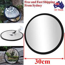 AU 30cm Blind Spot Convex Mirror Traffic Shop Driveway Garage Safety Mirror NEW