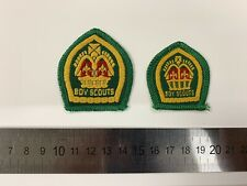 More details for boy scout badges - 2x 1940s / 1950s king's scout award - full size and miniature