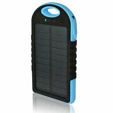 5,000mAh Solar Power Bank Charger, 2 USB Ports, Flash Light, Splash-proof