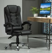 Swivel Executive Office Chair Faux Leather Desk Computer Chair Black D