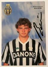 Cartoncino Juventus - Francesco Baldini Autografo Originale