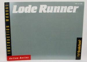 Vintage NES Nintendo Instruction Manual Lode Runner 1987