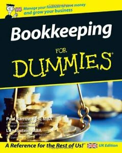 Bookkeeping For Dummies (UK Edition) by Lita Epstein Paperback Book The Cheap