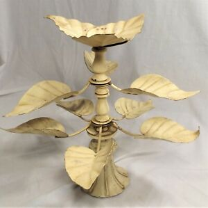 Vintage Metal Leaf Architectural Banister Fence Topper Garden Water Feature