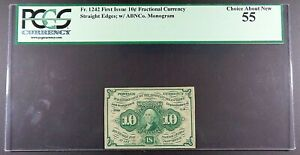 Fr. 1242 10-cent First Issue Fractional Note, PCGS Choice About New 55.