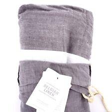 Restoration Hardware Belgian Linen Graphite Gray Twin Bedskirt Bed Skirt