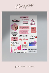BLACKPINK Printables Stickers (KPOP - 2 pages)